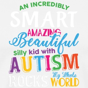 Kid With Autism Rocks My Whole World T Shirt - Men's Premium T-Shirt