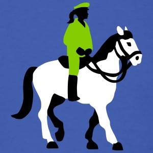 female_cop_on_horse_09_2016_3c02 T-Shirts - Men's T-Shirt