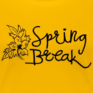 Spring Break Hibiscus Flower  - Women's Premium T-Shirt