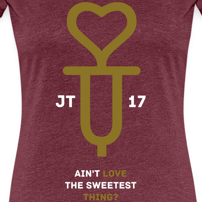 U+2=LOVE - back+front gold/white - s/3xl - multi colors