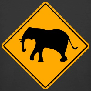 Elephant Road Sign T-Shirts - Men's 50/50 T-Shirt