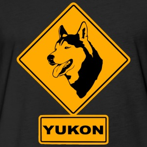 Yukon - Husky Road Sign T-Shirts - Fitted Cotton/Poly T-Shirt by Next Level