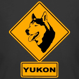 Yukon - Husky Road Sign T-Shirts - Men's 50/50 T-Shirt