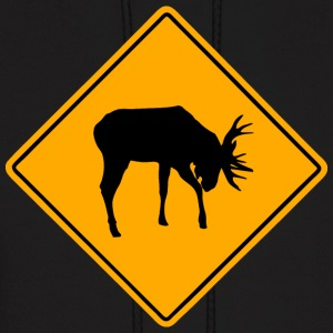 Moose Road Sign Hoodies - Men's Hoodie