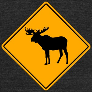 Moose Road Sign T-Shirts - Unisex Tri-Blend T-Shirt by American Apparel