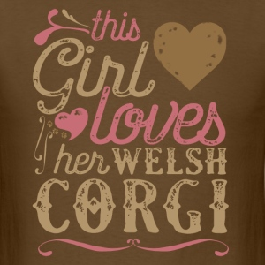 This Girl Loves Her Welsh Corgi Dog Dogs T-Shirts - Men's T-Shirt