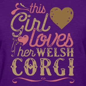 This Girl Loves Her Welsh Corgi Dog Dogs T-Shirts - Women's T-Shirt