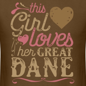 This Girl Loves Her Great Dane Dog Dogs T-Shirts - Men's T-Shirt