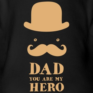 Father's Day: Dad - You are my Hero Baby Bodysuits - Short Sleeve Baby Bodysuit