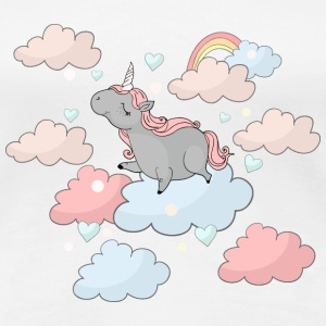 Cute Chubby Unicorn T-Shirts - Women's Premium T-Shirt