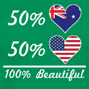 50% Australian 50% American 100% Beautiful - Men's Premium T-Shirt