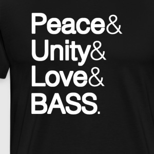 PEACE UNITY LOVE & BASS - Men's Premium T-Shirt