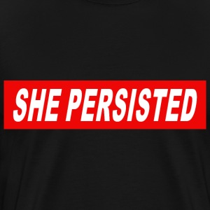 she persisted red 1 - Men's Premium T-Shirt