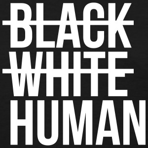 Black white human T-Shirts - Women's T-Shirt