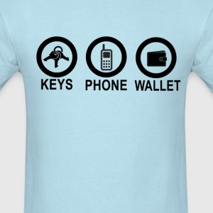 keys_phone_wallet_ - Men's T-Shirt