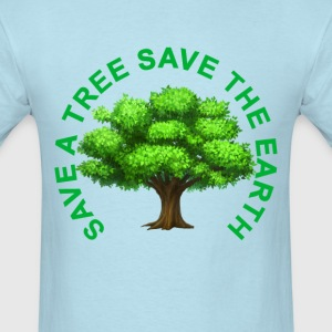 save_a_tree_save_the_earth_tshirt_ - Men's T-Shirt