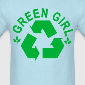 green_girl_recycling_recycle_ - Men's T-Shirt