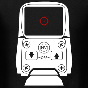 Holographic Sight Red Dot Scope White - Men's T-Shirt
