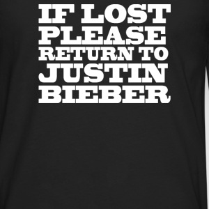 If lost please return to justin  - Men's Premium Long Sleeve T-Shirt