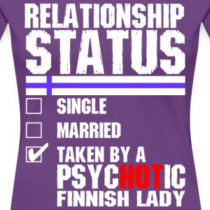 Psychotic Finnish Lady T-Shirts - Women's Premium T-Shirt