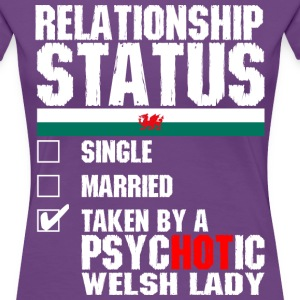 Psychotic Welsh Lady T-Shirts - Women's Premium T-Shirt
