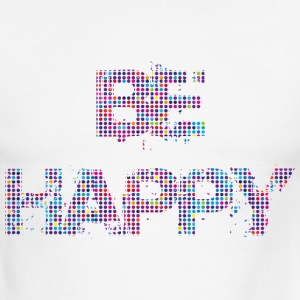 Be Happy - Men's Ringer T-Shirt