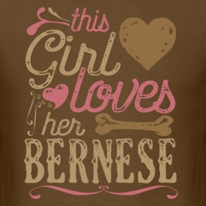 This Girl Loves Her Bernese Dog Dogs T-Shirts - Men's T-Shirt