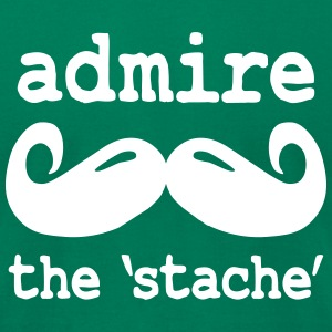 admire the stache T-Shirts - Men's T-Shirt by American Apparel