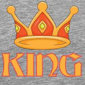 Light red king crown - Men's Premium T-Shirt