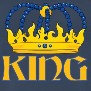 Yellow blue king crown - Men's Premium T-Shirt