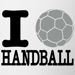 i love handball ball 2c Mugs & Drinkware - Contrast Coffee Mug