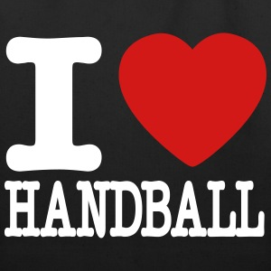 i love handball heart Bags & backpacks - Eco-Friendly Cotton Tote