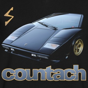 countach T-Shirts - Men's V-Neck T-Shirt by Canvas