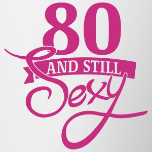 80 and still sexy Mugs & Drinkware - Contrast Coffee Mug
