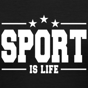 sport is life 1 T-Shirts - Women's V-Neck T-Shirt