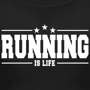 running is life 1 T-Shirts - Women's Maternity T-Shirt