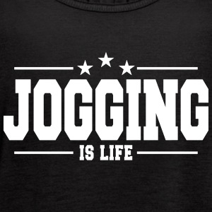 jogging is life 1 Tanks - Women's Flowy Tank Top by Bella