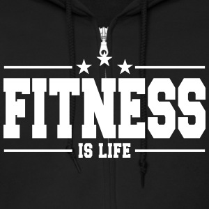 fitness is life 1 Hoodies - Men's Zip Hoodie