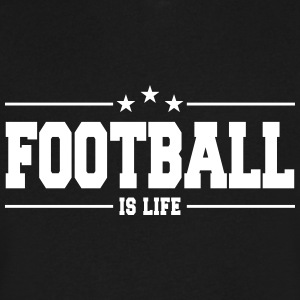 football is life 1 T-Shirts - Men's V-Neck T-Shirt by Canvas