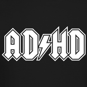 ADHD AC/DC Logo - Funny Attention Deficit Disorder - Crewneck Sweatshirt