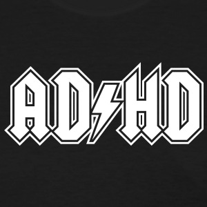 ADHD AC/DC Logo - Funny Attention Deficit Disorder - Women's T-Shirt