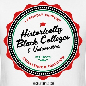 I Proudly Support HBCUs - Men's Red, Black, Green  - Men's T-Shirt