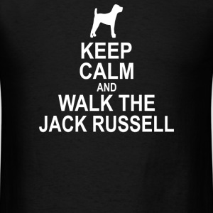 Keep Calm and Walk The Jack Russell - Men's T-Shirt
