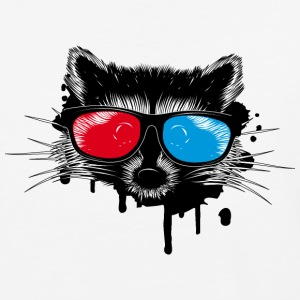 Raccoon with 3D glasses T-Shirts - Baseball T-Shirt