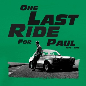 One last ride for paul walker - Men's Premium T-Shirt