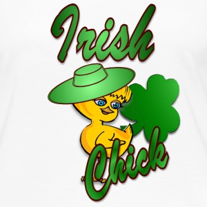 Irish Chick with Shamrock Long Sleeve Shirts - Women's Premium Long Sleeve T-Shirt