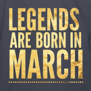 Legends are born in march birthday shirt design Kids' Shirts - Kids' Long Sleeve T-Shirt