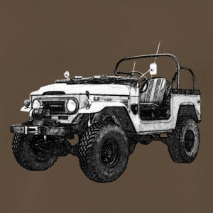 FJ40 WINDSHIELD DOWN PENCIL SKETCH - Men's Premium T-Shirt