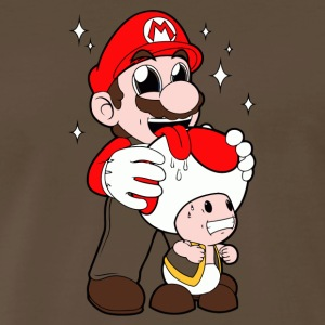 Mario Licking Toad - Men's Premium T-Shirt
