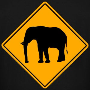 Elephant Road Sign T-Shirts - Men's Tall T-Shirt